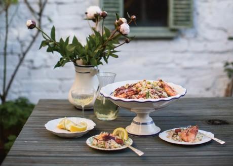 Rosie Birkett's delicious Orzo Seafood Salad